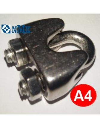 Зажим для троса 8 мм А4 нержавеющий DIN 741
