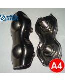 Зажим для троса 5 мм двойной (duplex) нержавеющий Арт. 8331