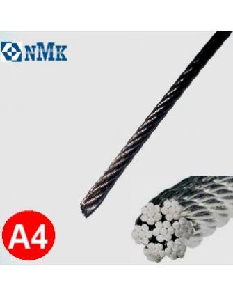 Трос 2,5 мм A4 DIN 3055 сечением 7x7 aisi 316